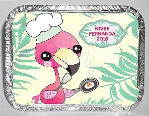 Marmitinha personalizada Flamingo