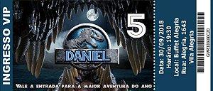 Convite Ingresso Jurassic World Dinossauro