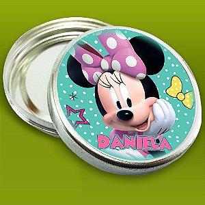 Latinha de aluminio 7 cm personalizada Minnie e Margarida Loja De Laços Boutique de Laços