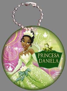 Tag com Correntinha 5 x 5 cm Princesa Tiana - Princesa e o Sapo