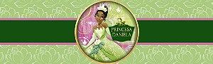 Rótulo água Princesa Tiana - Princesa e o Sapo