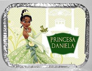 Marmitinha Personalizada com Imâ de Geladeira Princesa Tiana - Princesa e o Sapo