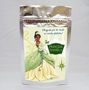 Adesivo para saco metalizado Princesa Tiana - Princesa e o Sapo