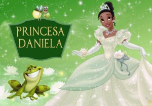 Painel TNT Princesa Tiana - Princesa e o Sapo