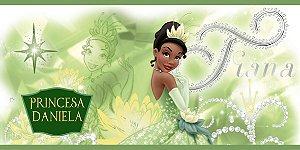 Adesivo para cofrinho personalizado Princesa Tiana - Princesa e o Sapo