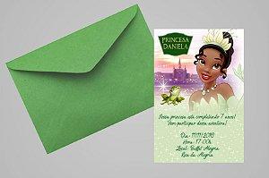 Convite 10x15 Princesa Tiana - Princesa e o Sapo 014