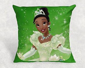 Almofada Personalizada para festa Princesa Tiana - Princesa e o Sapo para menina