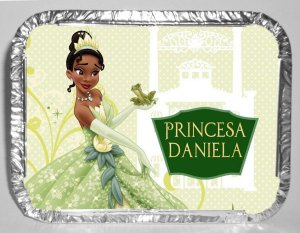 Marmitinha personalizada Princesa Tiana - Princesa e o Sapo