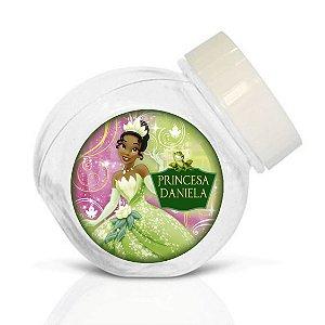 Embalagem com 40 adesivos baleirinho Princesa Tiana - Princesa e o Sapo