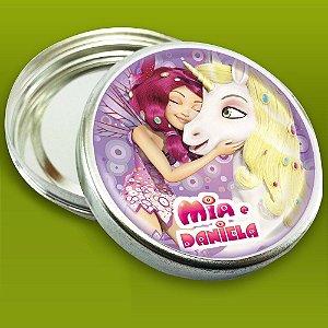 Latinha de aluminio 5 cm Mundo de Mia
