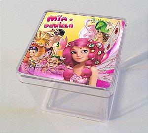 Adesivo caixinha acrílica 7x7 Mundo de Mia