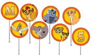 Embalagem com 40 toppers para docinhos A Guarda do Leão