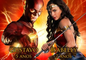 Painel TNT The Flash & Mulher-Maravilha