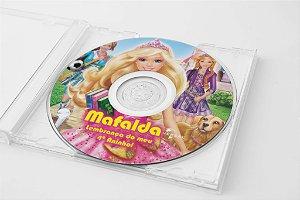 Arte para adesivo de CD personalizado Barbie