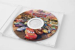 Arte para adesivo de CD personalizado Carros da Disney