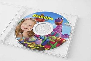 Arte para adesivo de CD personalizado Dibo o Dragão dos Desejos