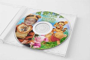 Arte para adesivo de CD personalizado Ursinho Pooh Baby