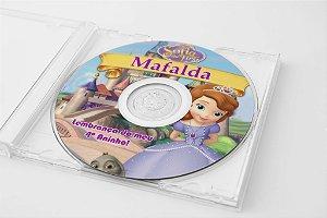 Arte para adesivo de CD personalizado Princesa Sofia