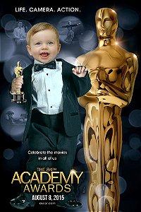 Montagem com poster do Oscar