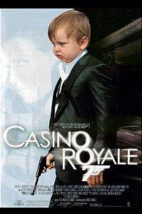 Montagem com poster de 007 - Cassino Royale