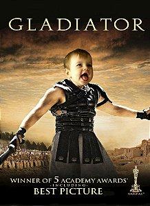 Montagem com poster de Gladiador