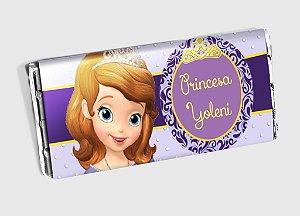 Arte personalizada para barra de chocolate Princesa Sofia