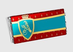 Arte personalizada para barra de chocolate Rei Arthur