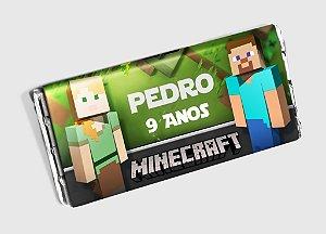 Arte personalizada para barra de chocolate Minecraft