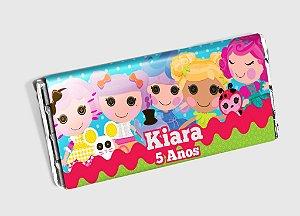 Arte personalizada para barra de chocolate Lalaloopsy
