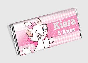 Arte personalizada para barra de chocolate Gatinha Marie