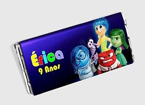 Arte personalizada para barra de chocolate Divertida Mente