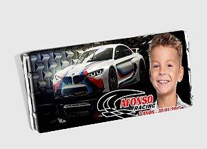 Arte personalizada para barra de chocolate de carros de corrida