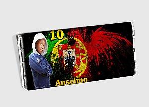 Arte personalizada para barra de chocolate do Benfica com foto