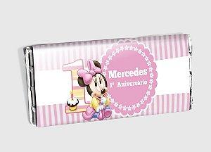 Arte personalizada para barra de chocolate Baby Disney