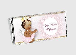 Arte personalizada para barra de chocolate Anjinha Princesa