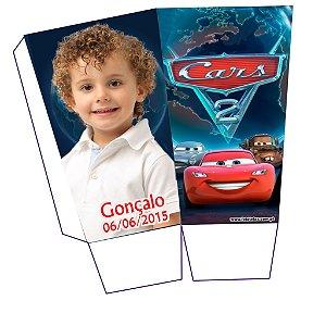 Caixa para pipoca personalizada Carros com foto