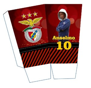 Caixa para pipoca personalizada Benfica com foto
