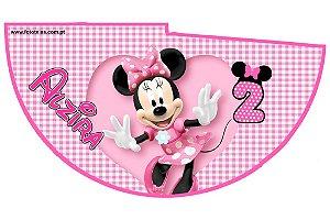 Arte para chapeuzinho personalizado Minnie Rosa