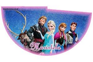 Arte para chapeuzinho personalizado Frozen
