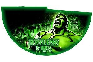 Arte para chapeuzinho personalizado Hulk