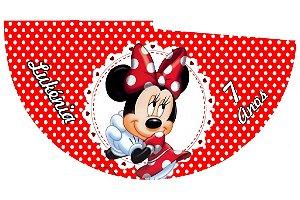 Arte para chapeuzinho personalizado Minnie Vermelha