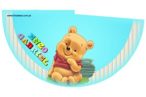 Arte para chapeuzinho personalizado Pooh Baby