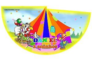 Arte para chapeuzinho personalizado Circo