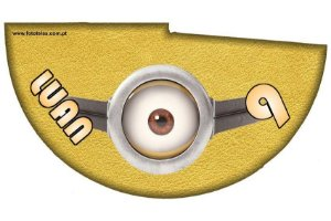 Arte para chapeuzinho personalizado Minions
