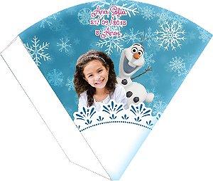 Arte para cone personalizado Frozen com foto