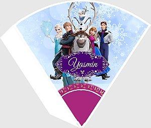 Arte para cone personalizado Frozen