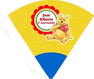 Arte para cone personalizado Ursinho Pooh