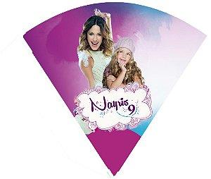 Arte para cone personalizado Violetta da Disney com foto