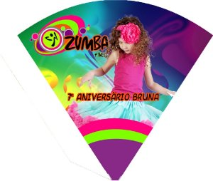 Arte para cone personalizado Zumba com foto