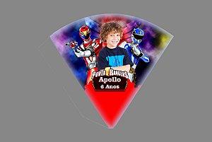Arte para cone personalizado Power Rangers com foto